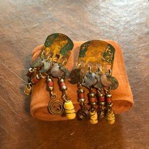 Rustic dangle earrings